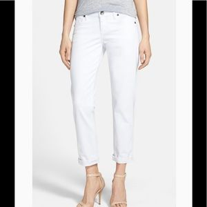 Kut From The Kloth Catherine Boyfriend white jeans